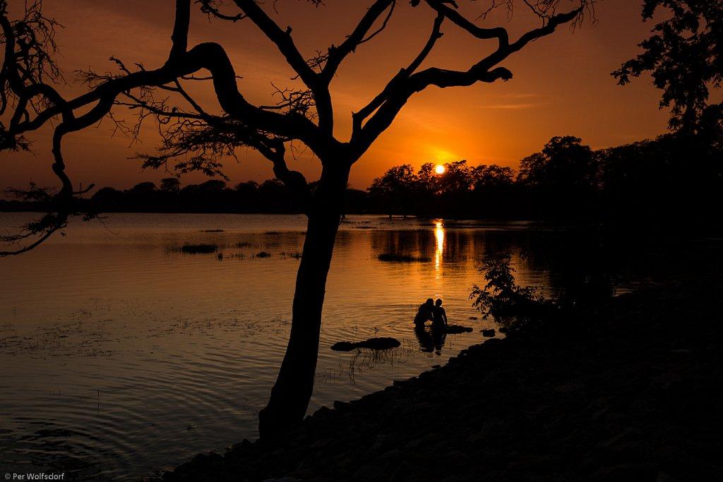 Sunset at Anuradhapura